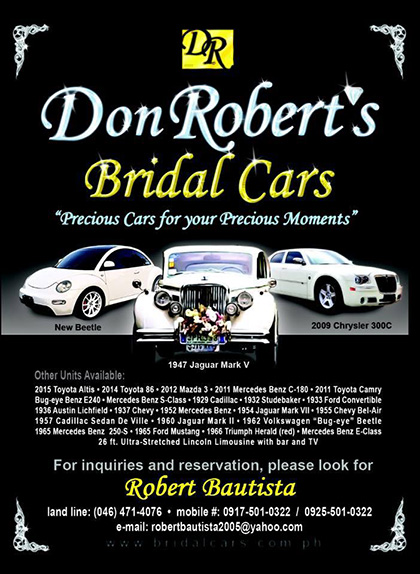 Don Robert S Bridal Cars Wedding Car Rentals Vintage Cars For Hire