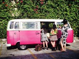 Pictorial with Ms. Ruffa Gutierrez and Kids. Don Robert's Bridal Cars Pink Kombi Van