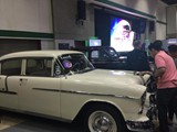 2015 Manila International Auto show. Don Robert's Bridal Car 1955 Chevy Bel Air